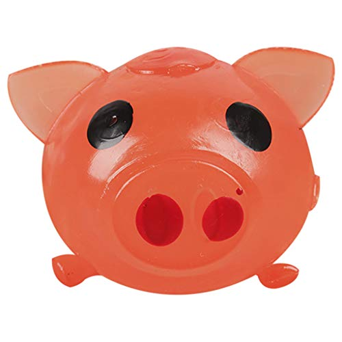 Hisoul Jello Pig Decompression Toy Squeeze Super Cute Anti Stress Splat Water Pig Ball Vent Toy Venting Sticky Pig Toy Relieve Stress Cure Toy ( Red) ()