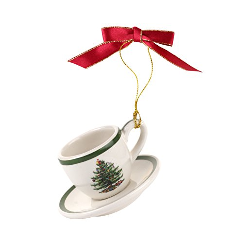 Spode Christmas Tree Ornament Teacup & Saucer ()