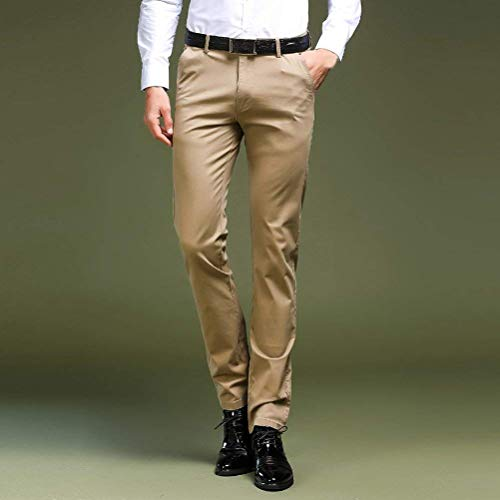Hombres Battercake Pantalones Formales Chinos Delgados Negocio Ocasionales Diseñador Planos Cómodo Negocios Clásicos Grau De Los Del Traje dXwwr4q