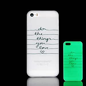 YULIN Phrase Pattern Glow in the Dark Hard Case for iPhone 4/4S