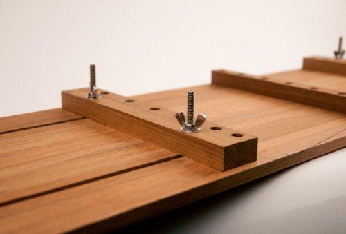 Adjustable Teak Bathtub Shelf-Seat