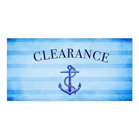 Nautical Stripes Window Cling 5-Pack 24x12 Clearance CGSignLab