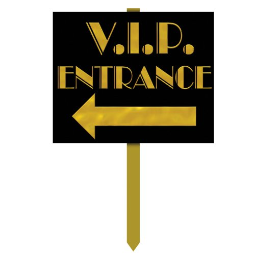 VIP Entrance Yard Sign Party Accessory (1 count) ()