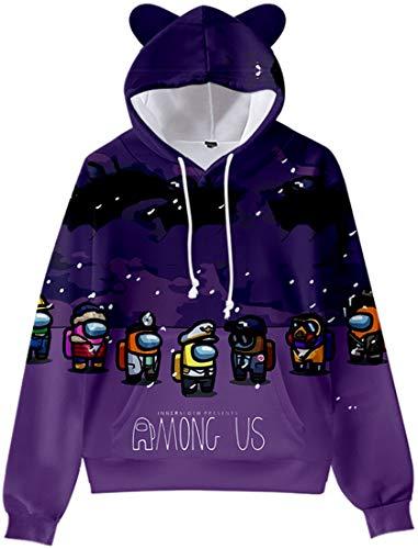 Chaos World Kinderen Among Us Hoodie Game Cosplay Kostuums Kat Oor Trui 3D Leuke Lange Mouw Sweatshirt