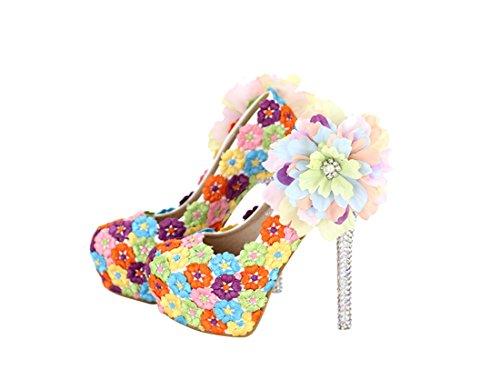 Heel 14cm Multicolore 35 Multicolor Miyoopark compensée femme Semelle 7qYvfZY