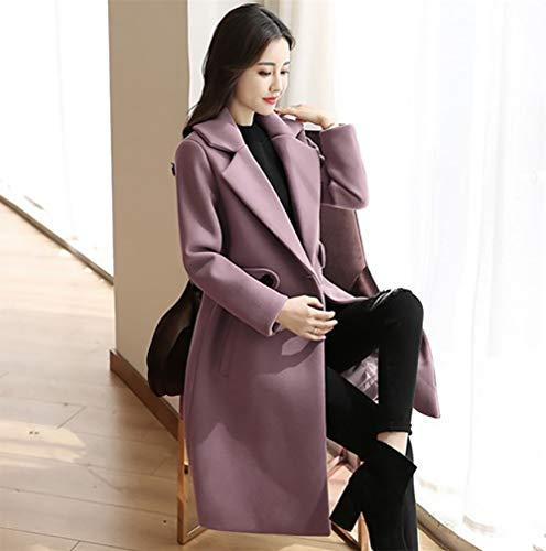Zhangzhiyua Invierno A Gruesa Moda Chaqueta Mujer De Solapa Capa gwxPgqrZ