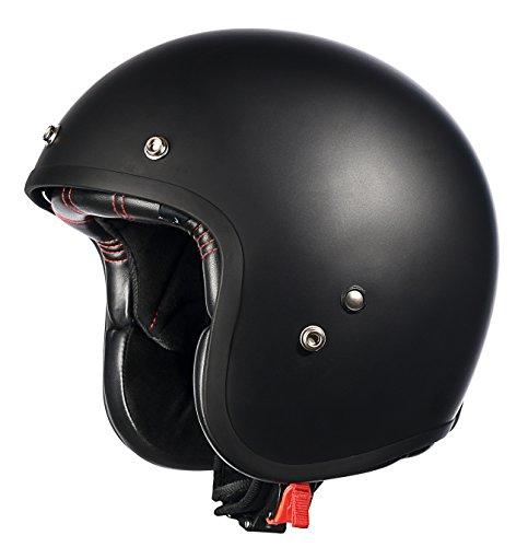 Old School 3 4 Motorcycle Helmets - 2