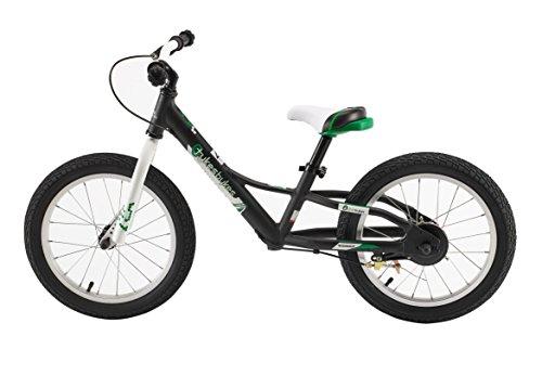 "Tykesbykes Charger Kids Balance Bike, 16"" Wheel, Black"