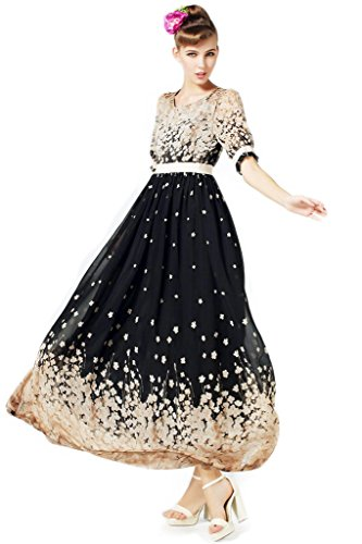 Rosybeat Women's Plus Size Chiffon Maxi Dress Short Sleeve 24