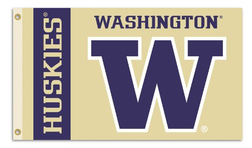 NCAA Washington Huskies 3-by-5 Foot Flag with Grommets