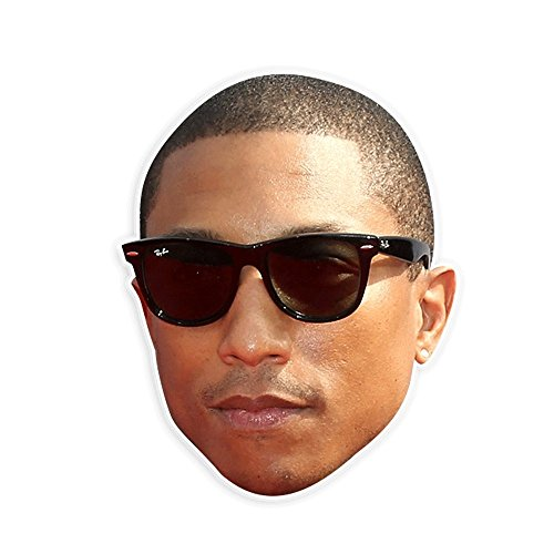 Neutral Pharrell Mask - Perfect for Halloween, Masquerade, Parties, Events, Festivals, Concerts - Jumbo Size Waterproof