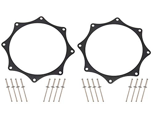 Black Ano Exhaust Trim Rings for 4