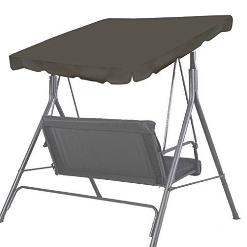 BenefitUSA Patio Outdoor 73''x52'' Swing Canopy Replacement Porch Top Cover Seat Furniture (Taupe) by BenefitUSA
