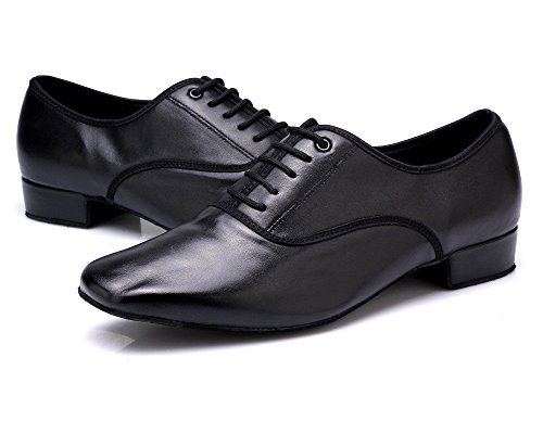 Image of DLisiting Latin Dance Shoes Mens Ballroom Leather Modern Dancing Shoes