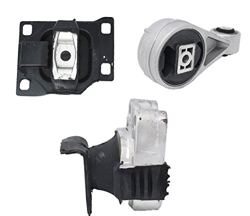 Motor Mount Set of 3 for 2005 2006 2007 Ford Focus 2.0L Compatible with Auto Trans (Motor Ford Mounts)