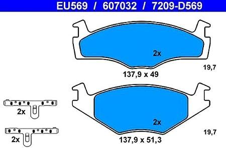 Ate 13046070322 Bremsbelagsatz Scheibenbremse Auto
