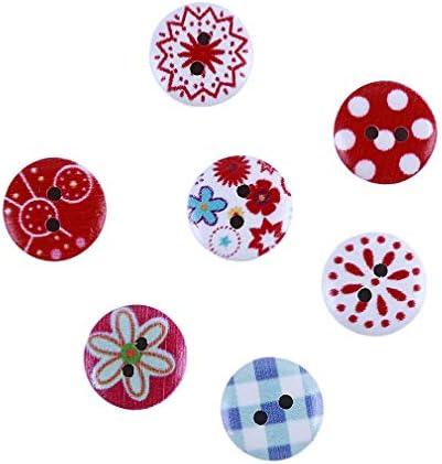 Sevenfly 100ピース色ラウンドボタン木製縫製ボタンスクラップブッキング工芸品服手作りギフト装飾