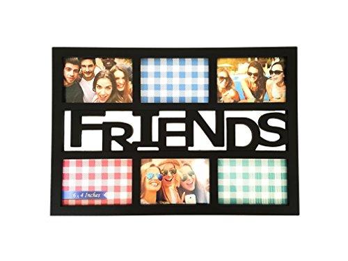 "BestBuy Frames ""Friends"" Black 6 Opening 4x6 Wall Hanging Co"