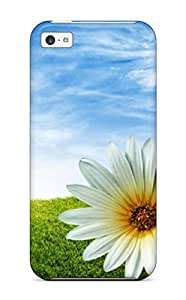 Iphone 5c Flower Tpu Silicone Gel Case Cover. Fits Iphone 5c