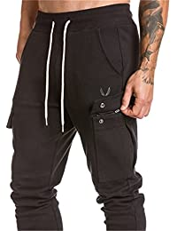 Regular Unique Pocket Mens Joggers Bodybuilding Gyms Black Khaki Men Pants Casual Pantalon Militar Sweatpant Ck20