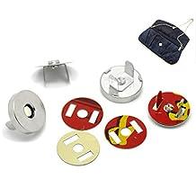 HOUSWEETY 20Sets Silver Tone Magnetic Purse Snap Clasps/Closure Purse Handbag 18mm Dia