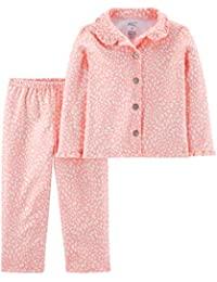 Baby and Toddler Girls' 2-Piece Coat Style Pajama Set