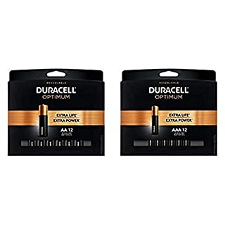 Duracell Optimum AA + AAA Batteries | 12 Count | Long Lasting Double A & Triple A Battery | Alkaline Battery