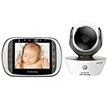 """Motorola MBP853CONNECT Wi-Fi Video Baby Monitor with 3.5"""" Diagonal Color Screen"""