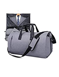 V-Vitoria Carry On Garment Bag Travel & Business Suit Bag with Shoulder Strap Duffel Weekender Bag with Shoe Pouch(Grey)