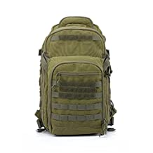 YAKEDA® Outdoor mountaineering bags shoulder bag equipped tactical camouflage backpack camping bag travel bag Travel Daypack Military Backpack Camping Hiking Trekking Bag 35L--A88034