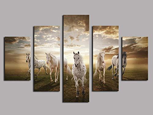 AIJOAN-Canvas painting Cuadro Moderno En Lienzo 5 Piezas Cuadro sobre Lienzo Pintura Decorativa De Inyeccion De Tinta Wulian Wuma Pentium Ebay