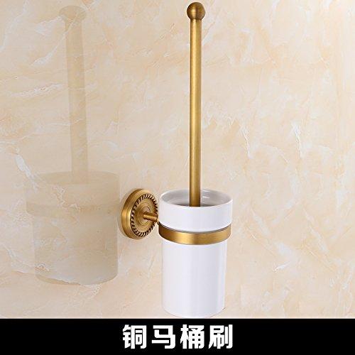 Toilet brush Mangeoo All copper antique bathroom, European shelf, bathroom pendant set,Double pole