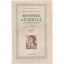 Histoire générale synchronique II De 622 après J.-C. À l'époque contemporaine