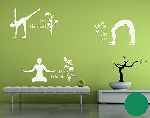 Klebefieber Wandtattoo Yoga Figuren Set 4 B x H H H  110cm x 170cm Farbe  Creme B071VFCS99 Wandtattoos & Wandbilder 137717