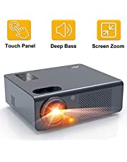 "Artlii Projector Home Cinema Projector Supported Full HD 1080P 250"" Display HiFi Stereo Movie Projector With Zoom Compatible with HDMI VGA USB AV TV Stick for Home Theater Parties Games"