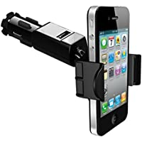 Universal Car Mount Lighter Socket Holder 1.5Amp Charging USB Port for iPhone Samsung Galaxy S7, S6, Edge, Edge+, S5, S4, Active, Galaxy Note 5 4 3 - LG G2 G3 G4 V10 - Motorola Droid Turbo 2