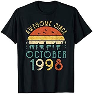 Awesome Since October 1998 21st Birthday 21 Yrs Old Gift T-shirt   Size S - 5XL