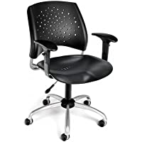 OFM Inc Star Stack Plastic Chair - Back with Arms