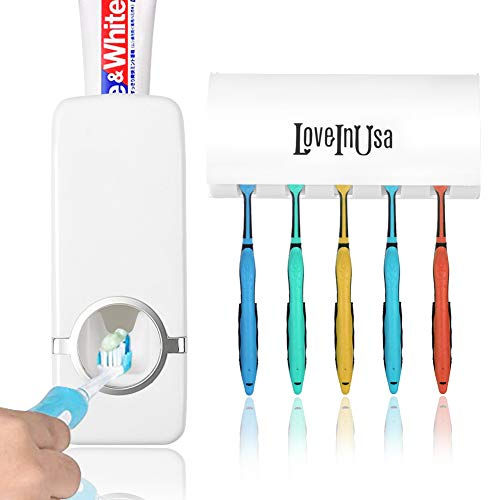 STICK-ON-WALL TOOTHPASTE DISPENSER & TOOTHBRUSH HOLDER