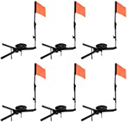 6pcs Ice Fishing Rod with Flag Round Tip-Ups