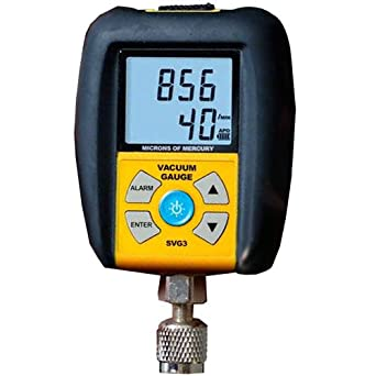 Hook up vacuum gauge