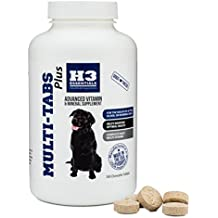 H3 Essentials - Multi Tabs Plus 180 Count - Dog Vitamin and Mineral Supplement - Advanced Formula Multivitamins for Senior, Active or Working Dogs - Tasty Chewable Tablets
