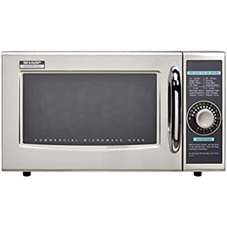 Sharp Electronics R 21LCF Microwave Oven 1000 Watts Stainless Steel Door Timer