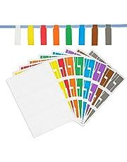 Selbstklebende Kabeletiketten Wasserdichtes Drahtetikett reißfester Marker und 10 Stück wiederverwendbare Klettverschlussbänder, 9 Arten von Farben, 270 Stück …