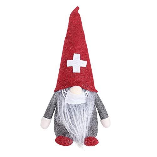 ANLUQIRIYON Lustige Weihnachtspuppen Dekoration, 2020 Ärzte Krankenschwestern Santa Faceless Dolls Weihnachten Home Decor Ornamente Kinder Geschenk