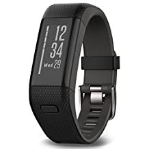 Garmin Vivosmart HR+ GPS Activity Tracker, Black, Regular