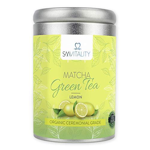 (100g) SM Vitality Te Matcha Organico en polvo | Te verde japones rico en vitaminas para beber | Rico en antioxidantes, refuerza el sistema inmunologico, el metabolismo, ayuda a la perdida de peso
