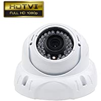 Dripstone 2.1MP 1080P CCTV Security HD-TVI Camera 2.8-12mm Lens IR-CUT 36 IR Leds Night Vision Outdoor Indoor Dome 4-in-1 Camera TVI/CVI/AHD/960H, White