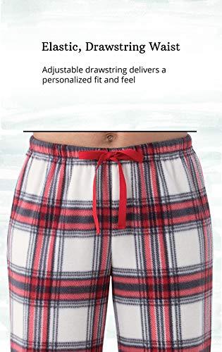 Addison Meadow Womens Pajama Pants - Soft Fleece, 2-pk, Red Multi, M, 8-10