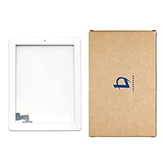 Touch Screen Digitizer Assembled with Home Button Strong Adhesive for iPad 2 2nd Generation A1395 A1396-White